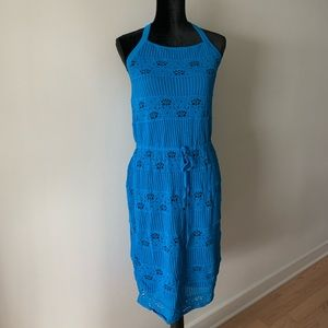 RACHEL Rachel Roy Lace Halter Dress Blue L